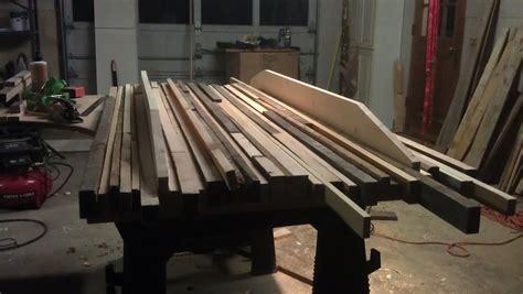 rustic kitchen table pallets  butcher block