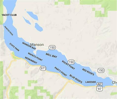 Lake Chelan Fishing Lankmark Map  Gone Fishing Nw