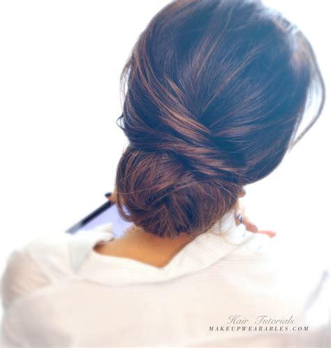 2 minute elegant bun hairstyle totally easy hair tutorial