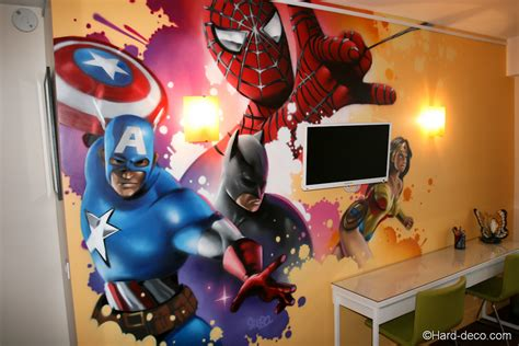 decoration chambre marvel