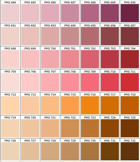 pantone 174 matching system color chart pms colors used for