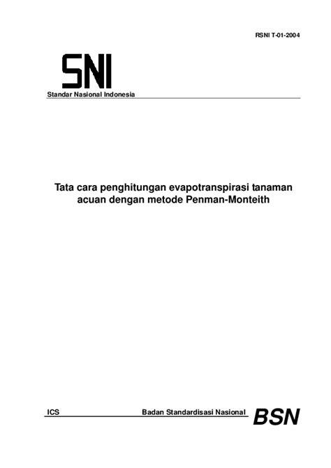 (PDF) Standar Nasional Indonesia Tata cara penghitungan