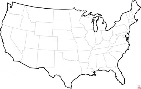 blank outline map   united states  whatsanswer