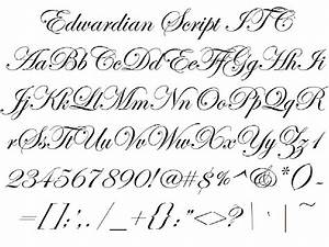 font alphabet styles edwardian script itc With pictures of script letters