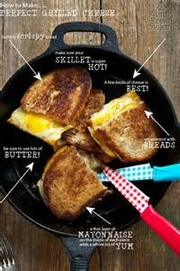 Pictures of Cast Iron Skillet in a Grilled Cheese Sandwich