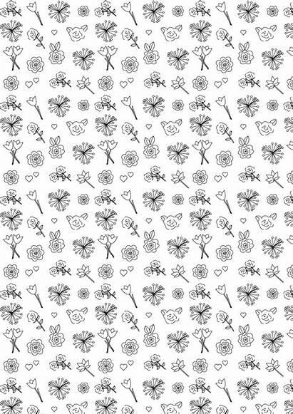 Paper Printable Flower Coloring Scrapbooking Digital Valentines