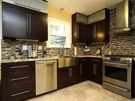 modern dark brown cabinets ideas  inspire  kitchen