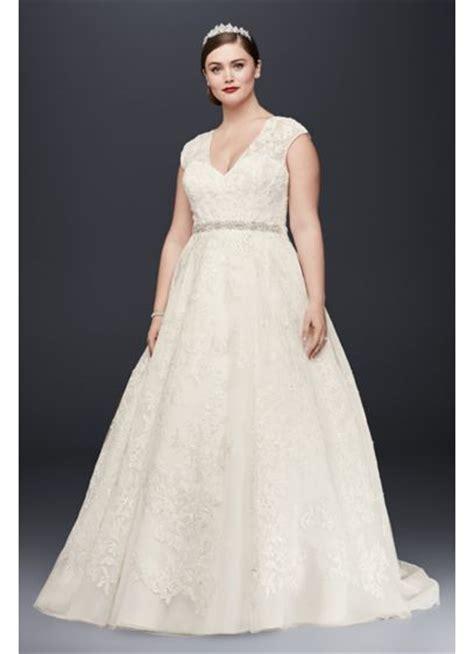 oleg cassini  size ball gown wedding dress davids