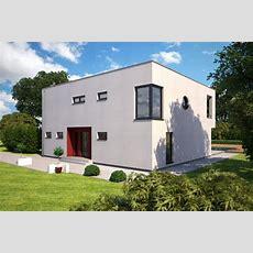 Massivhaus  Cube Als Zweigeschossiges Einfamilienhaus Im