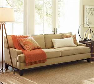 seabury upholstered sofa pottery barn With best pottery barn fabric for sofa
