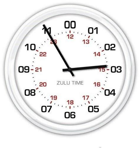 hour zulu time silent wall clock military utc gmt