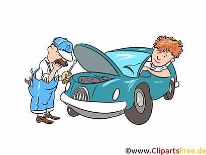 Clipart Gratis Werkstatt Autoreparatur Bild Illustratie Automobile