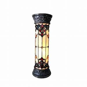new two light 30 victorian design tiffany style stained With tiffany pedestal floor lamp