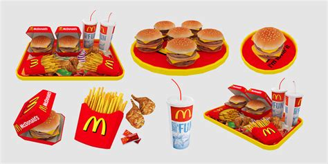 sims 3 cuisine mod the sims mcdonald 39 s deco food set 8 meshes