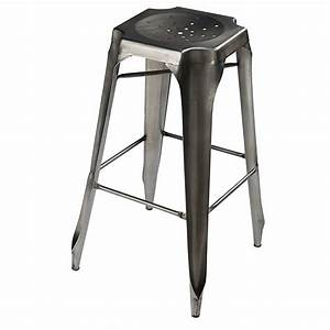 Tabouret De Bar Metal : trendy tabouret de bar indus en mtal gris with chaise metal maison du monde ~ Teatrodelosmanantiales.com Idées de Décoration