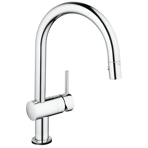 touch faucets kitchen grohe minta touch single handle pull sprayer kitchen