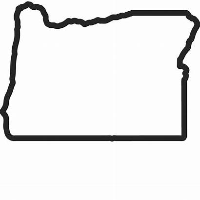 Stamp Oregon Outline Rubber State States Stamps