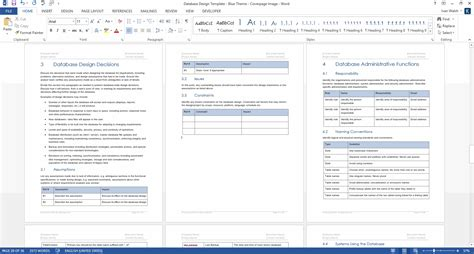 design document ms word template ms excel data