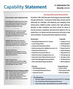 capability statement templates 10 free pdf documents With capabilities statement template