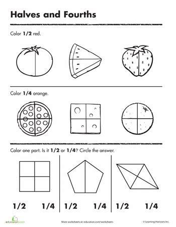 Beginning Fractions Halves & Fourths  You Don't Only Learn At School  Pinterest Fractions