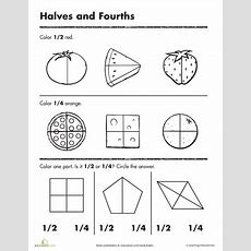 Beginning Fractions Halves & Fourths  You Don't Only Learn At School  Math Classroom