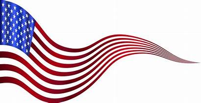 Flag American Usa Clipart Wavy Banner Clip
