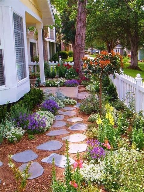 Pretty Walk Way Garden No grass to cut front yard ...