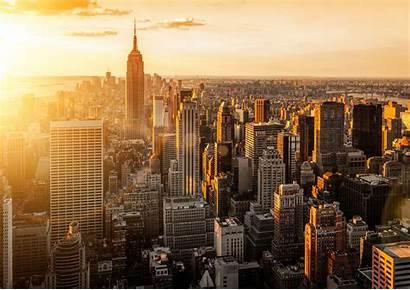 Sunset York Manhattan Tramonto Desktop Wallpapers Sfondo