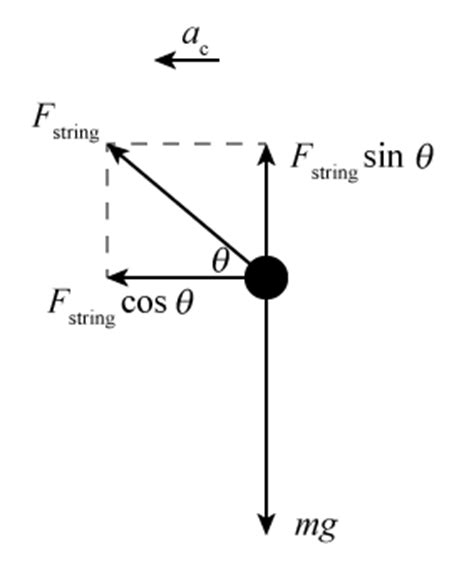Construct A Diagram Of A Hanging From A Scale What Are The Acting On The by And Acceleration In Circular Motion
