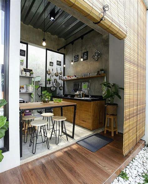 desain rumah open space terkeren parkiran desain