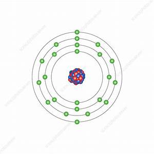 Vanadium  Atomic Structure - Stock Image - C013  1536