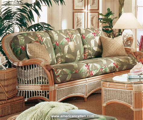 rattan settee sea scape indoor wicker and rattan sofa from spice island