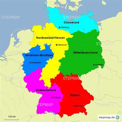 stepmap bundesrepublik deutschland landkarte fuer