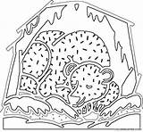 Cave Bear Coloring Template sketch template