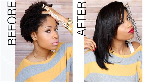 How To Straightening My Natural Hair Youtube