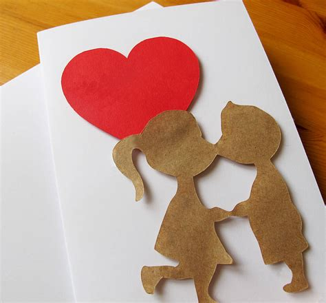 Handmade Love Heart Couple Valentine Card By Sarah Hurley