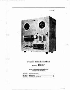 Akai 1722 L And 1722 W Reel Tape Recorder Service Manual