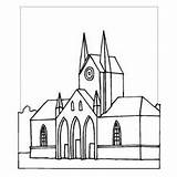 Cathedral Coloring Sheet Basil St Designlooter 1kb 300px Freecoloringsheets Places sketch template