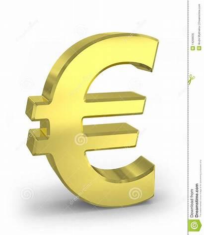 Euro Teken Gouden Dell Segno Oro Vrije