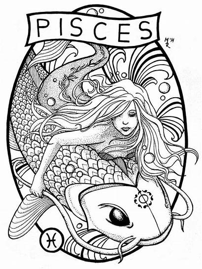 Deviantart Pisces Zodiac Tattoo Tattoos Coloring Pages