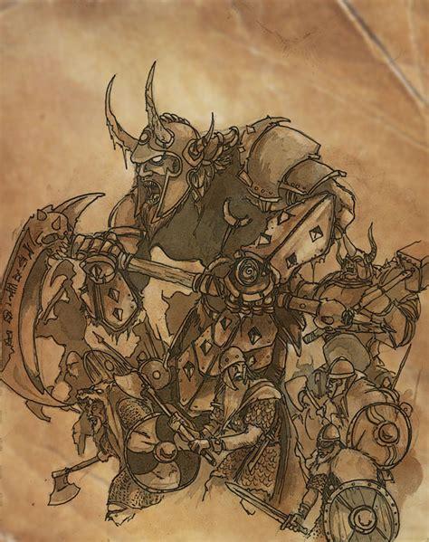 Adolfos Art Viking Blood Frost Giants Concept