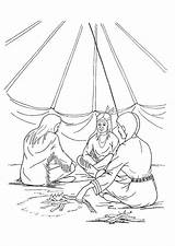 Coloring Teepee Tipi sketch template