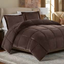 buy mink faux fur twin comforter set in chocolate from bed bath beyond