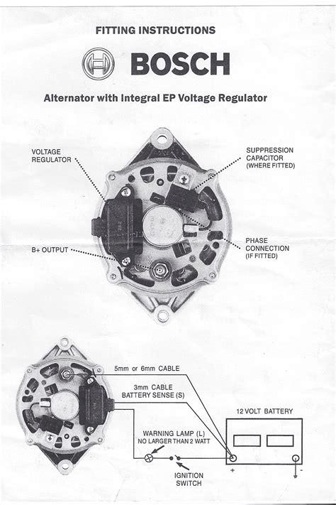bosch k1 alternator wiring diagram bosch regulator alternator wiring diagram