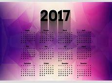 Polygonal Calendar Of Year 2017 Download Free Vector Art