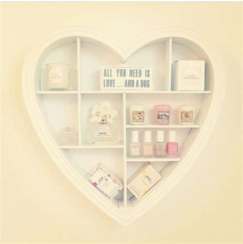 The finished example shown is. decoration, home decor, girly, heart, home accessory, heart shaped shelf, bathroom, wall decor ...