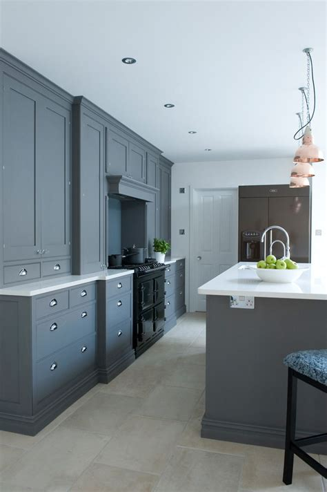charcoal painted kitchen cabinets charcoal blue kitchen cupboards with range cooker 5234