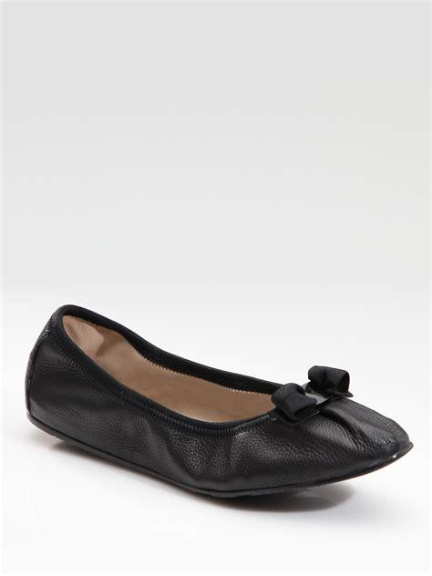 Flats Ferragamo D5852 ferragamo my ballet flats in black lyst