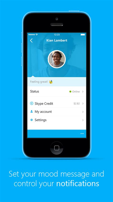skype  iphone  updated  interactive call  message notifications  ios  iclarified