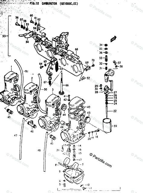 Suzuki Motorcycle Oem Parts Diagram For Carburetor